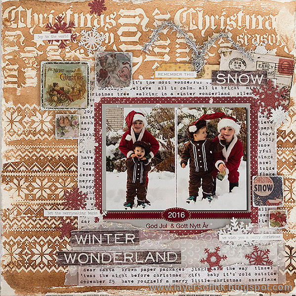 Layers of ink - Winter Wonderland Layout by Anna-Karin