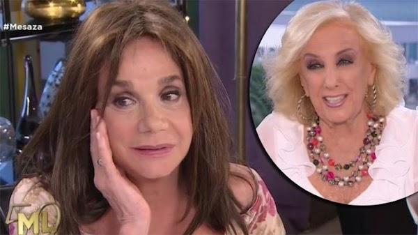 Ana María Picchio confesó que es sorda y Mirtha Legrand se le rió en la cara