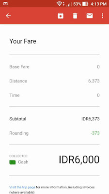 Detail Perjalanan uberMOTOR