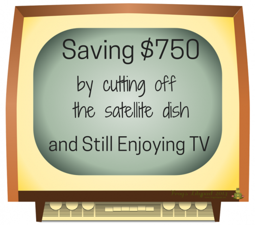We're saving $750 by turning off the satellite box and using the Roku box for TV