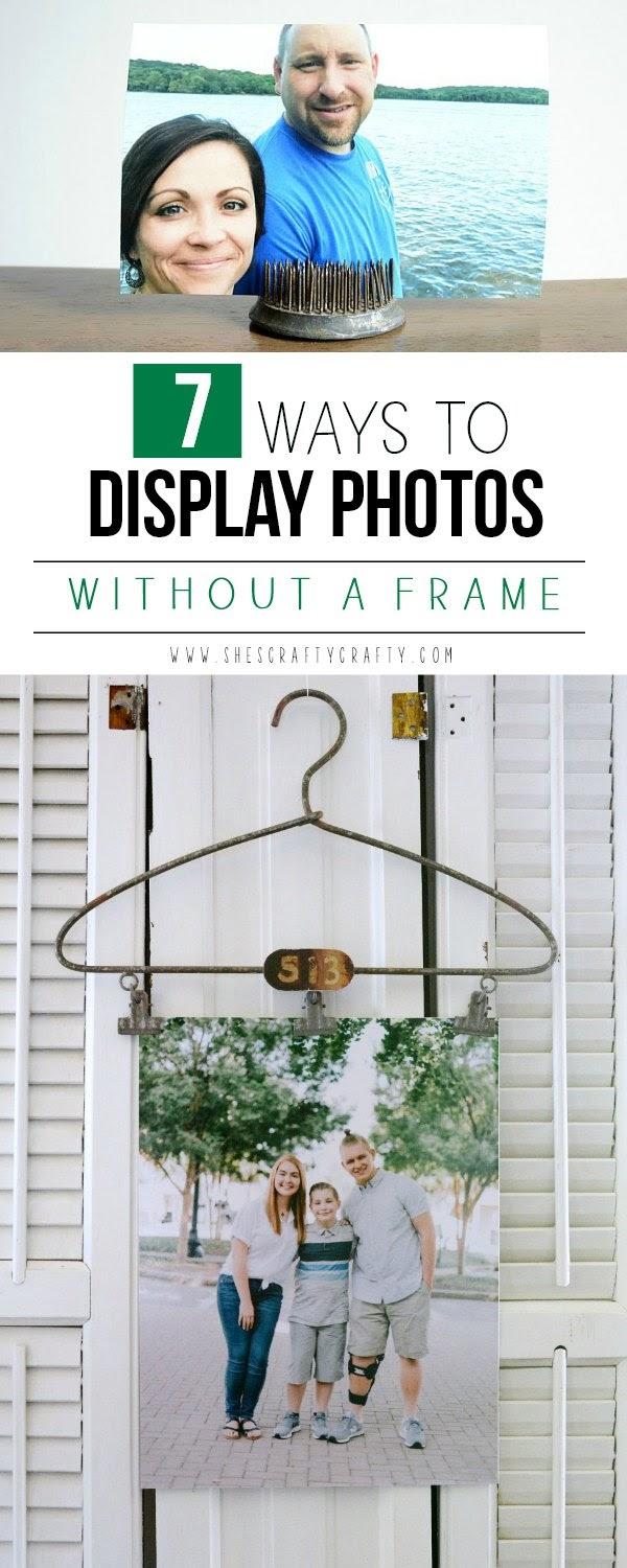 7 ways to display photos without a frame - use vintage and unexpected items to display family photos in your home
