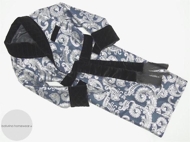 mens paisley silk dressing gown long robe luxury