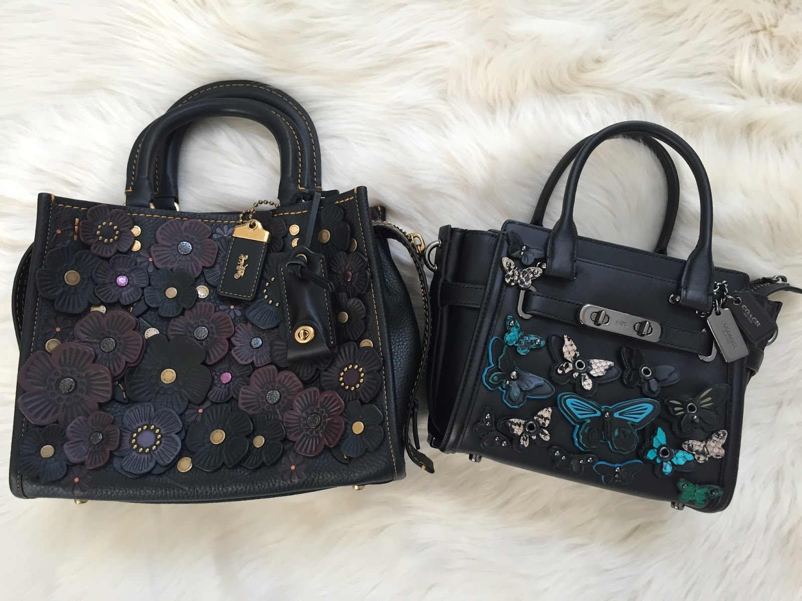 Petite Impact Its National Handbag Day Coach Swagger Wristlet In Pebble Leather Watermelon My First Purchase Was The 21 With Butterflies On It Then I Had Eye A Tea Rose Bag Love Pebbled And Suede Lining