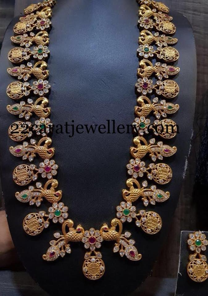 Peacock Ram Parivar Haram In Silver Jewellery Designs