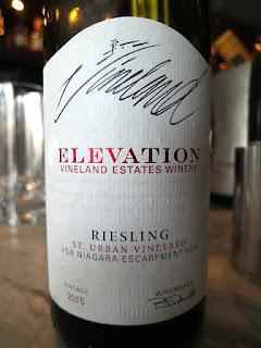 Vineland Estates Elevation St. Urban Vineyard Riesling 2015 - VQA Twenty Mile Bench, Niagara Peninsula, Ontario, Canada (89 pts)