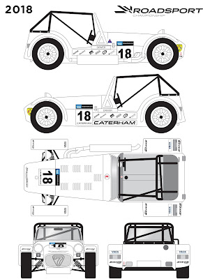 2018 Caterham Roadsport Decal Schematic