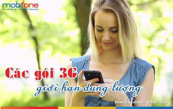 Các gói 3G Mobifone giới hạn dung lượng