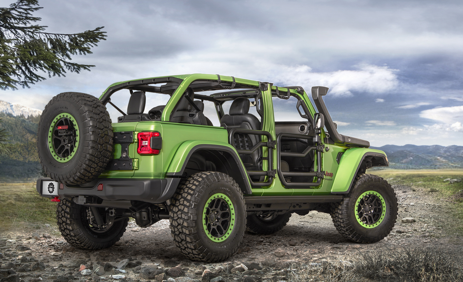 Jeep Two Door >> New Wranglers Show Off Mopar Jeep Performance Parts   Carscoops