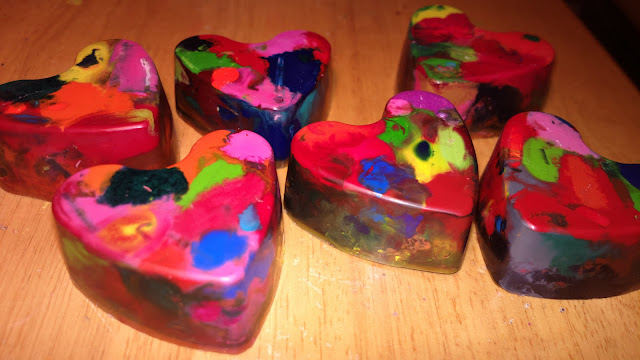 Zapachowe kredki w kształcie serca