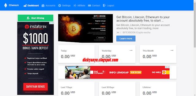 Situs Mining Ethereum Terbaru Gratis dan Legit!