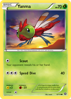 Yanma Steam Siege Pokemon Card