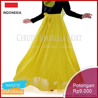 NAG210 Rok Panjang Wanita Sifon Payung Cerutti Umbrella Skirt Bmgshop