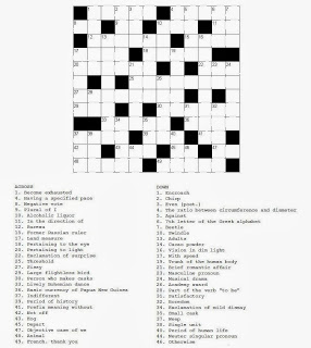 Free printable Word Search and Sudokus: Crossword 21