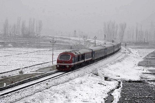 Train Journey amid Snow