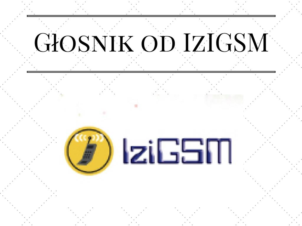 Głośnik od IzIGSM