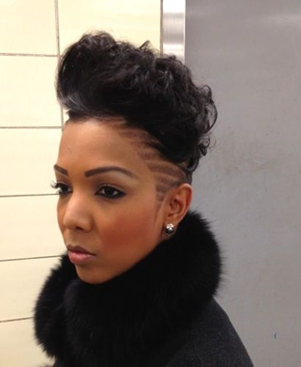 Shaved Sides Mohawk Hairstyle For Black Woman Hair Styles