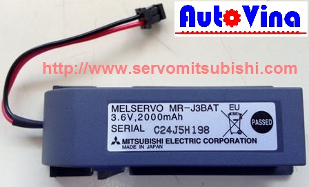 Thay thế pin cho servo, Battery MR-Bat , MR-J3BAT, Pin nuôi nguồn cho servo PLC, Battery 3.6V cho Melservo Mitsubishi