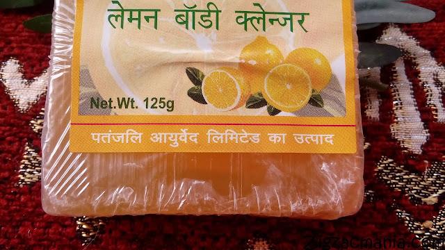 Patanjali Lemon Body Cleanser Packaging
