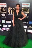 Esha Gupta in a Deep Neck Sleeveless Dark Green Gown at IIFA Utsavam Awards 2017     49.JPG