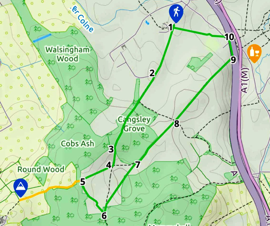 Map for Walk 1: The North Mymms Loop Created on Map Hub by Hertfordshire Walker Elements © Thunderforest © OpenStreetMap contributors Note: There is a larger, more detailed map embedded at the end of these directions