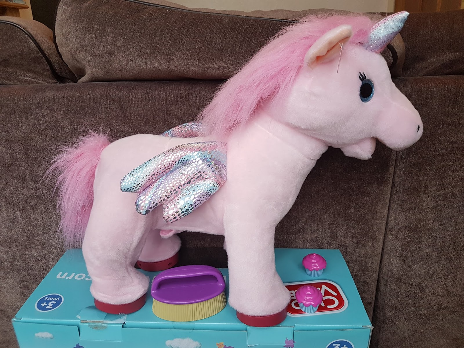 Lily Loves Her Sparkly Unicorn Horn And Magical Glittery Wings Cupcake Has A Beautiful Pink Mane Tail Which Is Great Fun To Brush