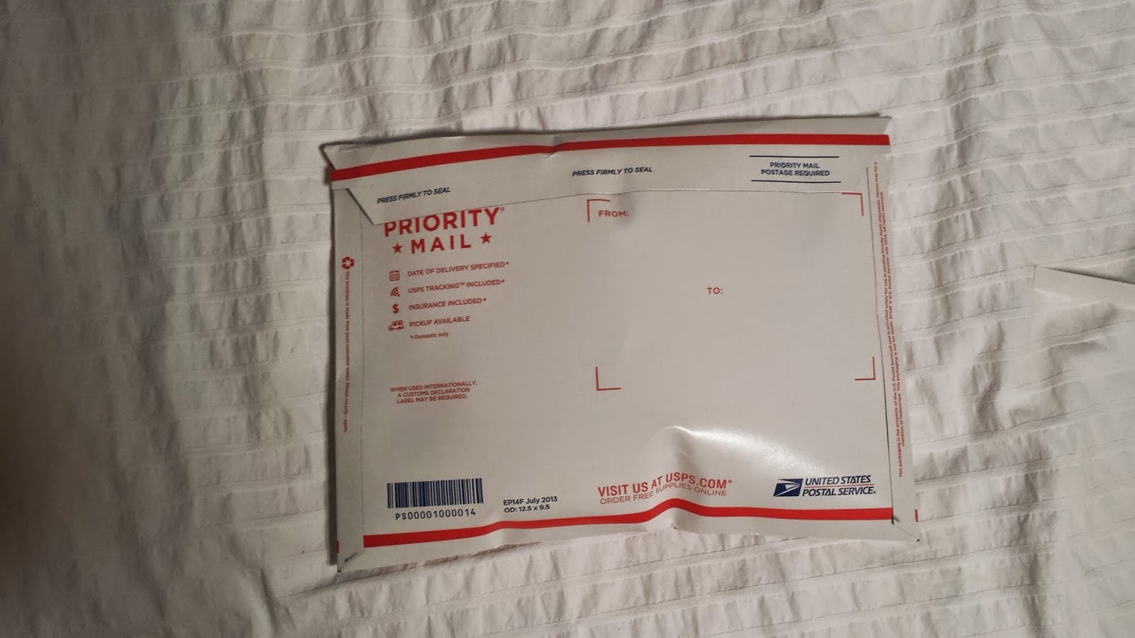 Flat Rate Envelope I Would Suggest Shipping With The Priority Medium Size Box Or By Weight Tyvek Bag It Should Be A Fine Fit