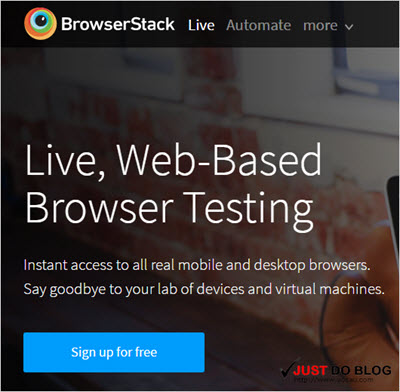 Browser Stack - Free Online Blogger Display Testing Tools