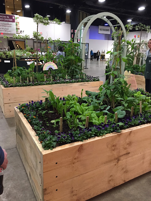 Raised beds keep Mr. McGregor Happy at the Boston Flower & Garden Show