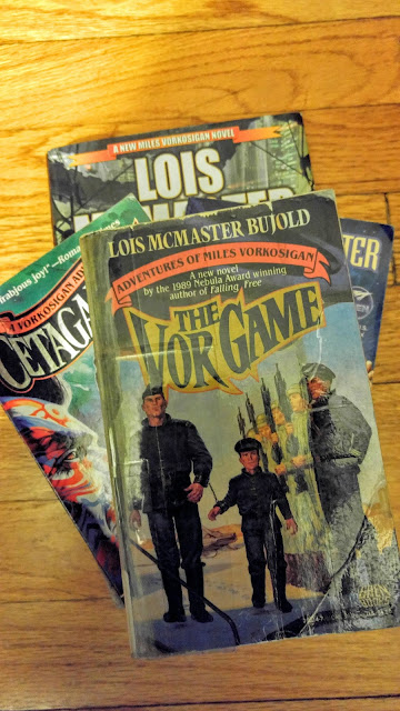 Miles Vorkosigan books--Lois McMasters Bujold