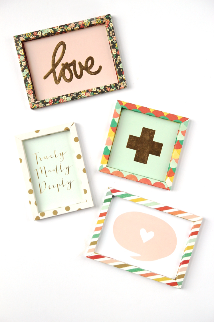 learn how to make your own custom diy 3d shadow box paper frames - Shadow Box Frames
