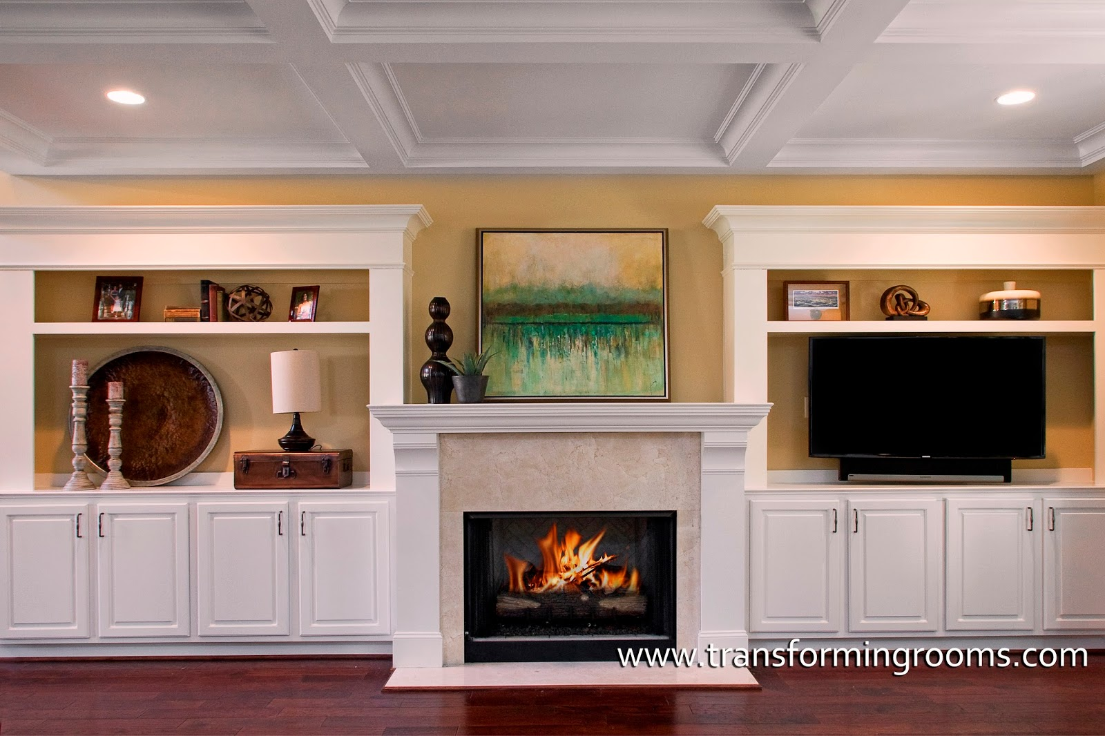 Alternatives to built in cabinets beside the fireplace. - Interior ...