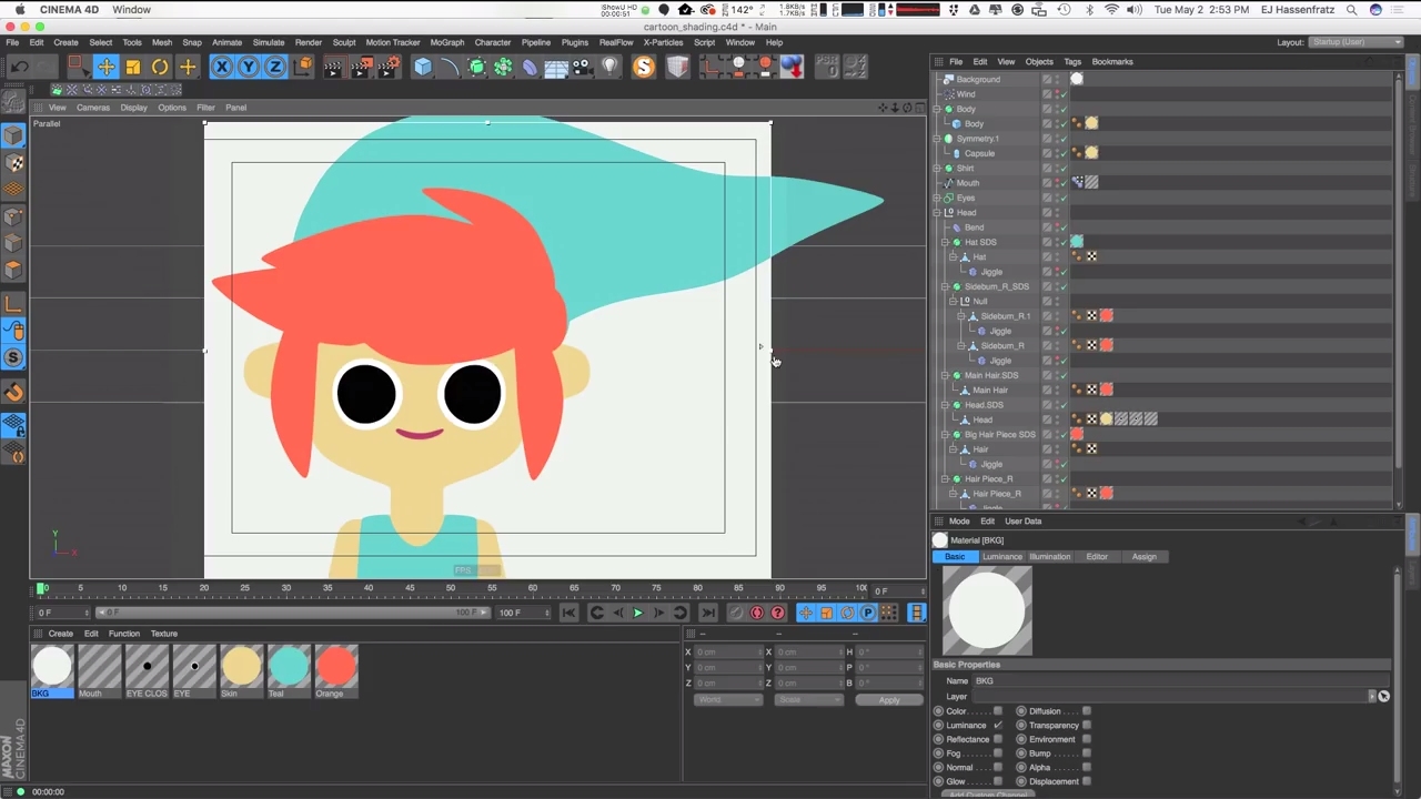 Using the Sketch and Toon Cel Shader In C4D | CG TUTORIAL