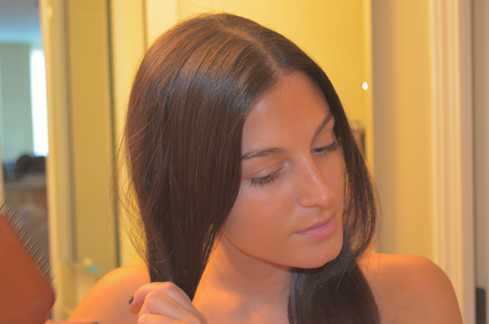 Straighten Natural Hair To Lengthen