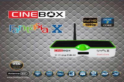 CINEBOX FANTASIA X HD NOVA ATUALIZAÇÃO - SKS 22W - 28/10/2016