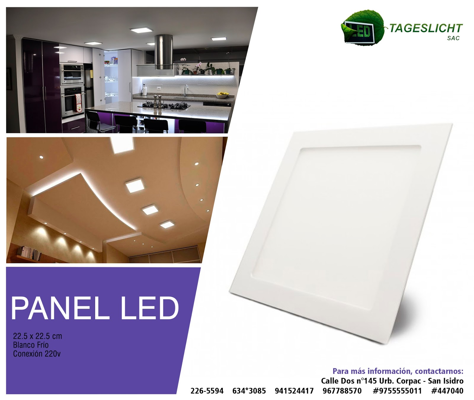 Led Panel Tageslicht Tageslicht IluminaciÓn Led Panel Led 22 5 X 22 5 Cm