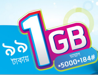 1GB at Only 99 Tk Grameenphone Latest Internet Offer