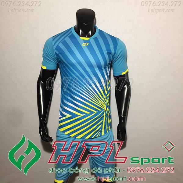 Áo bóng đá không logo CP TC màu xanh