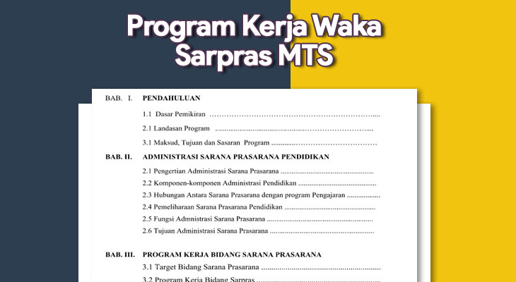 Program Kerja Waka Sarpras MTS