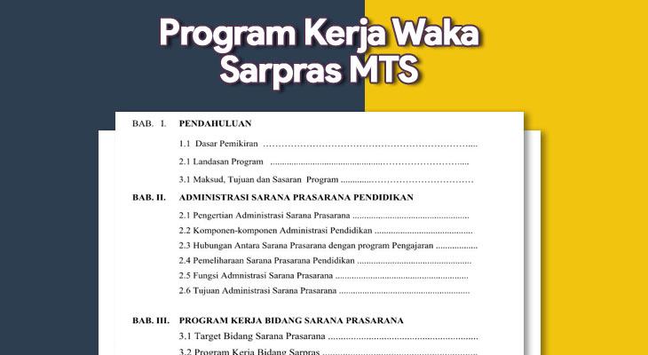 Program Kerja Waka Sarpras MTS