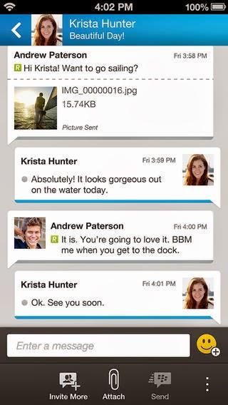 BBM For iOS iPhone