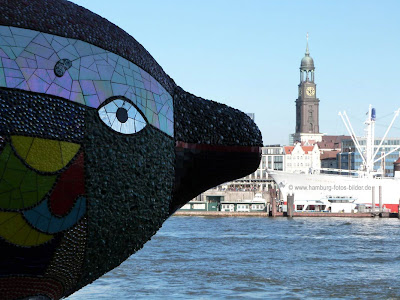 Hafen Fisch Blick in Hamburg