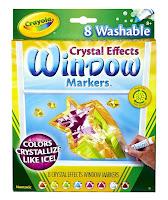 window markers, ice, shiney, washable, crystalize