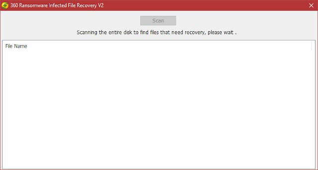 360 Ransomware Infected File Recovery V2 | Herramienta de recuperación de archivos encriptados por el ransomware Wannacry