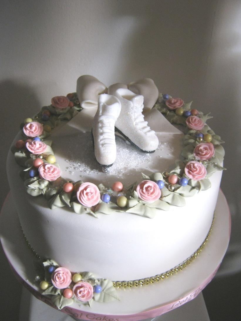 Let Them Eat Cakes Ice Skating Birthday Cake