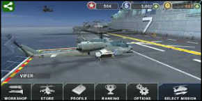 لعبة GUNSHIP BATTLE Helicopter 3D مهكرة 2017