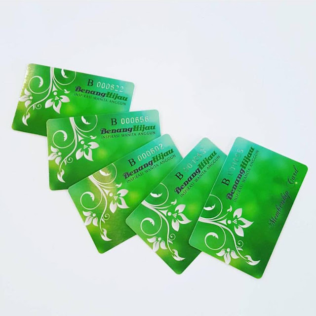 membership card benang hijau, kad keahlian benang hijau, kad ahli benang hijau, kad member benang hijau
