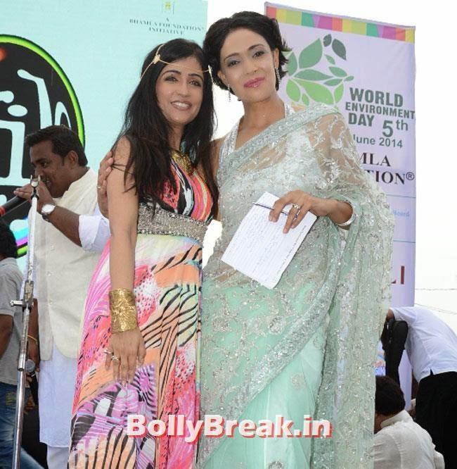 Shibani Kashyap and Ruby Bhatia, Dia & Ruby Bhatia at World Environment Day Celebrations 2014