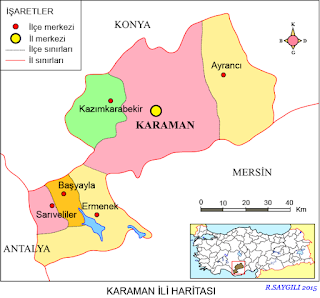 karaman haritası ile ilgili görsel sonucu