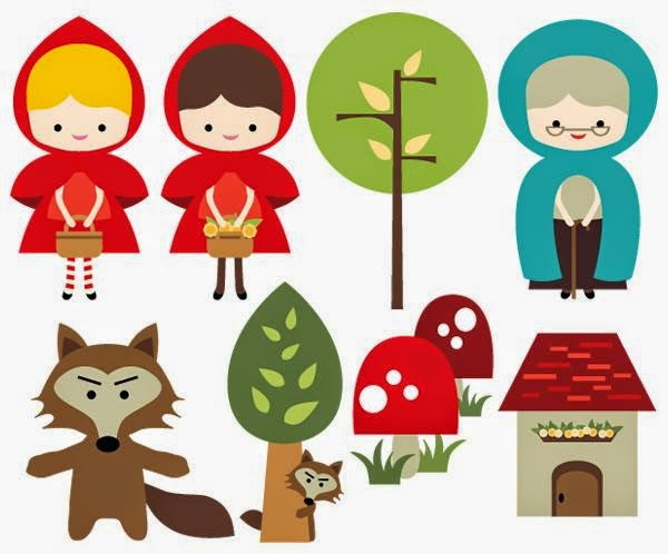 Little Red Ridding Hood: Free Printable Clipart.