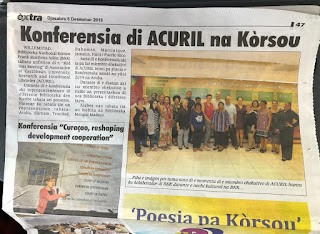 La réunion d'ACURIL à Curaçao relayée par le journal national